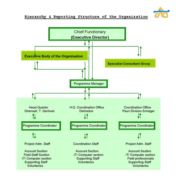 organisational structure of csr approved NGO